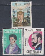 Guatemala PA N° 739 / 41 XX : Anniversaires D'événements ( II ) La Série Des 3 Valeurs Sans Charnière, TB - Guatemala