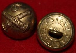 Lot De 2 Boutons  Artillerie Dia 20 Mm - Bottoni