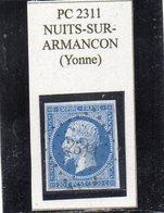 Yonne - N° 14A Obl PC 2311 Nuits-sur-Armançon - 1853-1860 Napoleon III