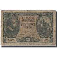 Billet, Espagne, 25 Pesetas, 1940-01-09, KM:116a, B - [ 3] 1936-1975 : Regime Di Franco