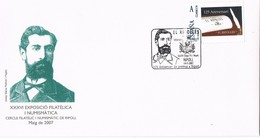 35781. Carta RIPOLL (Gerona) 2007. TU SELLO, Aniversario De Prensa. Josep Mª Pellicer - 1931-Hoy: 2ª República - ... Juan Carlos I