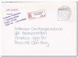 1985 Aangetekende Brief Binnen Den Haag, V. Hogenhoucklaan - Period 1980-... (Beatrix)