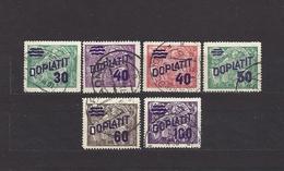 Czechoslovakia 1926 Gest ⊙ Mi P 41-46 Sc J 44-49 Postage Due Stamps, Portomarken. Aufdruck DOPLATIT.Tschechoslowakei C2 - Czechoslovakia