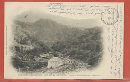 REUNION CARTE POSTALE AFFRANCHIE DE 1900 DE POINTE DES GALETS POUR NANTES FRANCE - Réunion (1852-1975)