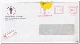 1985 Bodegraven Aangetekende Brief, Graanhandel T. Vink - Period 1980-... (Beatrix)