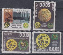 Guatemala PA N° 753 / 56 XX :50è Anniversaire Du Crédit Hypothécaire National. Les 4 Valeurs Sans Charnière, TB - Guatemala