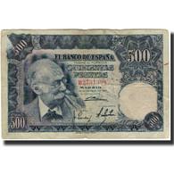 Billet, Espagne, 500 Pesetas, 1951-11-15, KM:142a, B+ - [ 3] 1936-1975 : Regime Di Franco