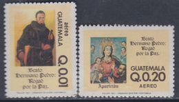 Guatemala PA N° 757 / 58 XX : 20è Anniversaire De La Béatification De Pedro De Béthancourt La Paire Ss Charnière, TB - Guatemala