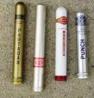 TABAC  )    BOITE / ETUI  A  CIGARES  -   PARTAGAS  -  LA PAZ  -  ROMEO  Y  JULIETA  -  PUNCH - Sigarenkokers