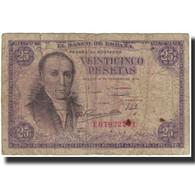 Billet, Espagne, 25 Pesetas, 1946-02-19, KM:130a, B - 25 Pesetas
