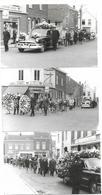 3 Photos Postmortem - Enterrement Corbillard Années 50 - Personnes Anonymes