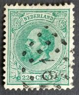 Nederland/Netherlands - Nr. 25H Met Puntstempel 91 - Used Stamps