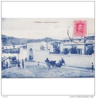 CUTTPA4727J-LFTD12144TMI.Tarjeta Postal De Ceuta.Casa,Edificios,carros Y CUARTELES DEL EJERCITO.REGULARES  En CEUTA - Burros