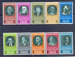 Jordan 1967 - Builders Of Peace - Stamps 10v - Complete Set - MNH**- Excellent Quality - Jordanien