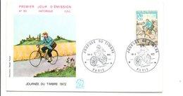FDC 1972 JOURNEE DE TIMBRE - FDC