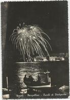 V4110 Napoli - Mergellina - Fuochi D'artificio Di Piedigrotta - Notturno Notte Night Nuit Nacht Noche / Viaggiata 1956 - Napoli