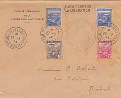 LETTRE. ALGERIE. 1944. ALGER COMITE DE LA LIBERATION POUR RABAT  / 2 - Algérie (1924-1962)