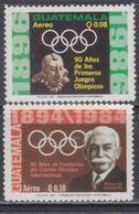 Guatemala PA N° 802 / 03 XX : 90è Anniversaire Des Jeux Olympiques Modernes. Les 2 Valeurs Sans Charnière, TB - Guatemala