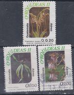 Guatemala PA N° 843 / 45 O : Flore : Orchidées. Les 3 Valeurs Oblitérées, TB - Guatemala