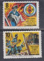 Guatemala PA N° 806 / 07 XX : Hommage Au Corps Des Sapeurs-pompiers Volontaires. Les 2 Valeurs Sans Charnière, TB - Guatemala