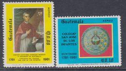 Guatemala PA N° 813 / 14 XX . Bicentenaire Du Collège San José De Los Infantes. Les 2 Valeurs Sans Charnière, TB - Guatemala