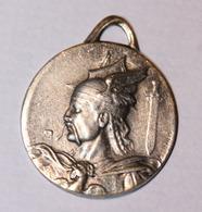 """WWI Beau Pendentif Médaille Patriotique """"Chef Gaulois Vercingétorix ? / Glaive Et Gui"""" Celtic Medal WW1 - 1914-18"""