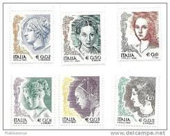 2003 - 2758/63 Donne Nell'arte - 6. 1946-.. Repubblica
