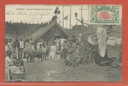 REUNION CARTE POSTALE AFFRANCHIE DE 1908 POUR NANTES FRANCE - Réunion (1852-1975)