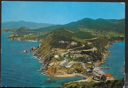 TOSCANA - ISOLA D'ELBA - PORTOFERRAIO - VEDUTA AEREA - VIAGGIATA 1977 - Italia