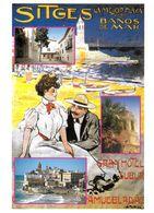 PUBLICITÉ TOURISME BARCELONE ESPAGNE SITGES LA MELORA PLAYA N° 190 EDIT CATALAN - Publicité