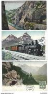SUISSE - Lot De 3 CPA - TRAIN - Simplon, Gotthard Express, Brünigbahn - 1907 Et 1909 - Suisse