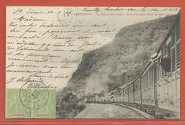 REUNION CARTE POSTALE AFFRANCHIE DE 1904 DE SAINT DENIS POUR BREST FRANCE - Réunion (1852-1975)