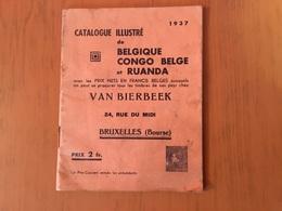 Catalogue Illustré De1937 Belgique Congo Et Ruanda - België