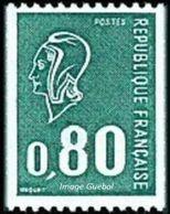 France Marianne De Béquet N° 1894 ** Roulette Le 80c Vert - 1971-76 Marianne De Béquet