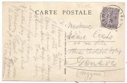 SEMEUSE 60C LIGNEE SEUL CARTE PETIT BORNAND 23.6.1926 HTE SAVOIE POUR GENEVE TARIF FRONTALIER - 1921-1960: Periodo Moderno