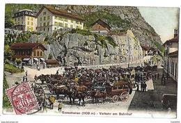 SUISSE - GOESCHENEN - Verkehr Am Bahnhof - 1907 - UR Uri