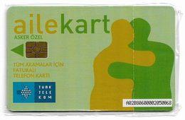 Turkey - TT (chip) - C-220 - Ailekart Light Green, (Special Card For Soldiers), 2008, NSB - Turkije