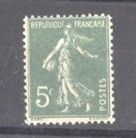 0ob  0518  -  France  :  Yv  137a  *    Type I - 1906-38 Semeuse Con Cameo