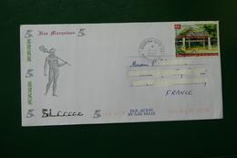 ENVELOPPE LETTRE TIMBRE POLYNESIE  FRANCAISE CACHET ILE Des Marquises - Storia Postale