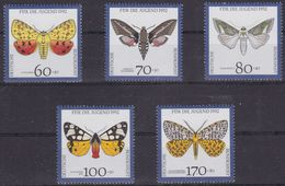 Germany Federal Republic 1478/82 - Youth Hostel ( Moths ) 1992 - MNH - Farfalle