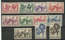 Mauritanie, Lot De Timbres Neufs * Sur 4 Plaquettes, Voir 4 Scanns - Neufs