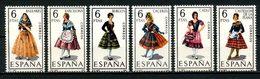 ESPAGNE 1967 N° 1455/1460 ** Neufs MNH Superbes C 1,50 € Costumes Féminins Baléares Cadiz Castellon De La Plana Suits - 1931-Aujourd'hui: II. République - ....Juan Carlos I