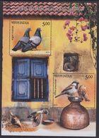 India 2500/01 - Pigeon And Sparrow ( Birds ) 2010 M/S - MNH - Tauben & Flughühner