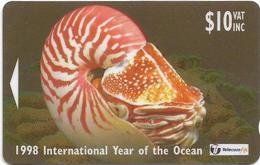 Fiji - Tel. Fiji - Year Of The Ocean - Deep Sea Cephalopod - 24FJD - 1998, 10$, 8.000ex, Used - Fiji