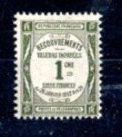 France 1908-1925 Taxes N°43 Neuf Sans Charnière - 1859-1955 Mint/hinged