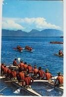 Carte Postale : TAHITI : Pirogues Doubles De Course - Tahiti