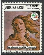 Burkina Faso 1985 Painting By Botticelli (1445-1510) Italian Painter, Portrait, Mi 1064, Cancelled - Burkina Faso (1984-...)