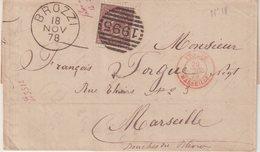 "ITALIE : N° 18 . OBL . "" BROZZI "" . POUR LA FRANCE . 1878 . - 1878-00 Umberto I"