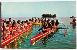 Carte Postale : TAHITI : Cours De Pirogues Au 14 Juillet - Tahiti