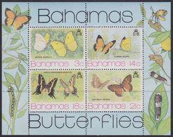 Bahamas 378/81 - Butterflies 1975 M/S - MNH - Farfalle